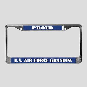Proud U.s. Air Force Grandpa License Plate Frame