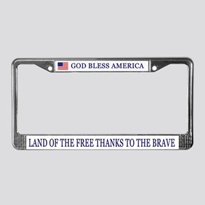 God Bless America License Plate Frame