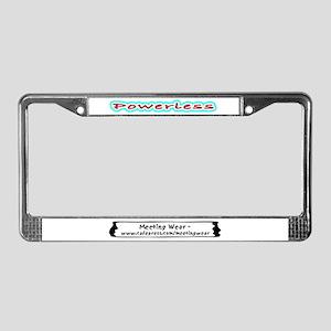 """Powerless"" License Plate Frame"