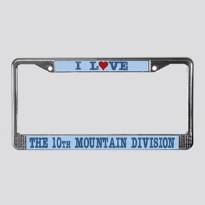 I Love 10th Mountain Division License Plate Frame