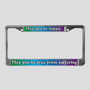 Wish Happiness To Everyone! License Plate Frame