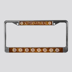 Supernatural Brown License Plate Frame