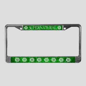 Supernatural Green License Plate Frame