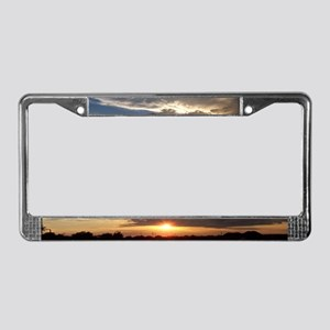 Amazing Sunset License Plate Frame