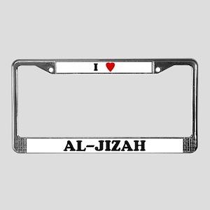 I Love Al-Jizah License Plate Frame