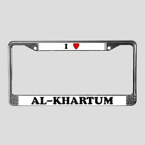 I Love Al-Khartum License Plate Frame