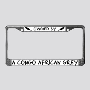 Owned by a Congo African Grey License Plate Frame