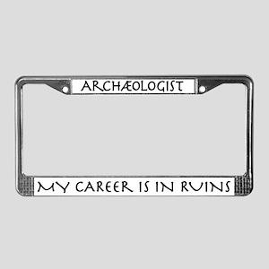 Archaeologist Career Ruins License Plate Frame