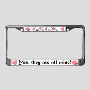 All Mine (8 Kids) License Plate Frame