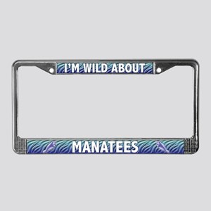 Wild About Manatees License Plate Frame