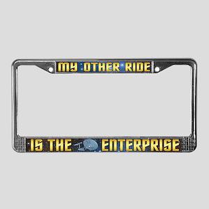 Starfleet Enterprise Ride License Plate Frame