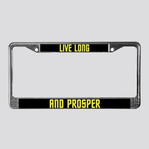 Live Long and Prosper License Plate Frame