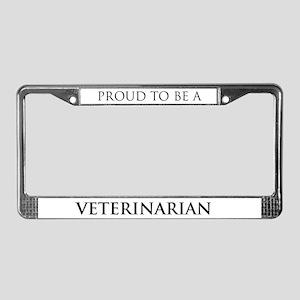 Proud Veterinarian License Plate Frame