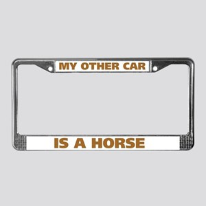 My Other Car is a Horse License Plate Frame