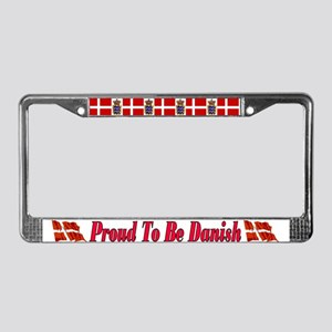 Proud To Be Danish License Plate Frame