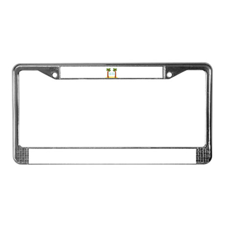 Personalizable Palm Trees License Plate Frame by PersonalizationStation