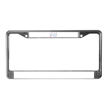 Cute Girly LOVE TO SPARKLE! License Plate Frame by CreativeJoy