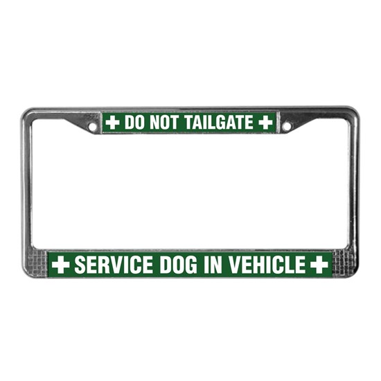 Service Dog License Plate Frame by K-9 Search & Rescue ...