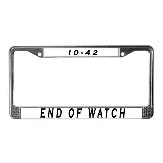 License Plate Frame by Goodies for Retired Heroes and