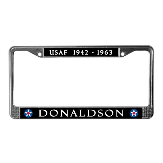 DONALDSON AIR FORCE BASE TOP LICENSE PLATE