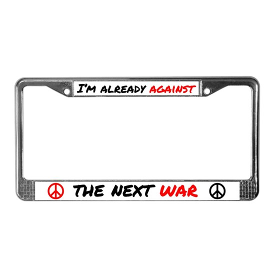 lic plate bot im already against war