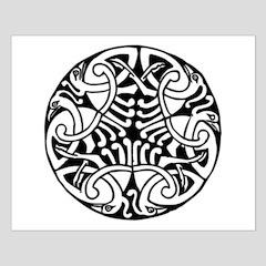 Celtic Crane Throw Blanket by GrannyE's Zipper Club and