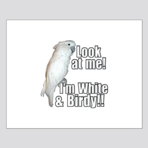 White & Birdy Small Poster