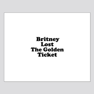 Britney Lost the Golden Ticke Small Poster