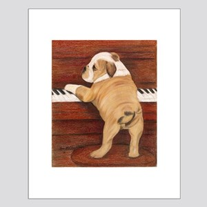 Piano Pup Small Poster