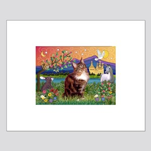 Maine Coon in Fantasy Land Small Poster