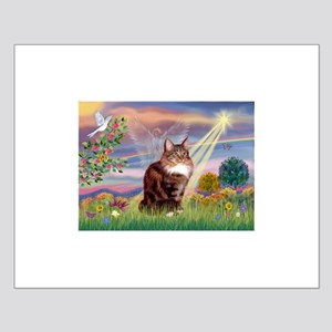 Cloud Angel & Maine Coon Small Poster