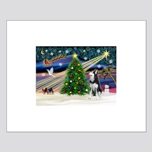 Xmas Magic/Siberian Husky 1 Small Poster