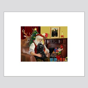 Santa's Black Cocker Small Poster
