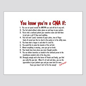 You're A CNA if... Small Poster
