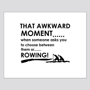 Awkward moment rowing designs Small Poster