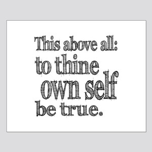 Shakespeare To Thy Own Self Be True Small Poster