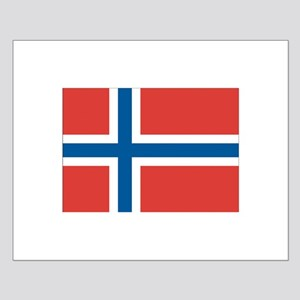 Norway/Norwegian Flag Small Poster