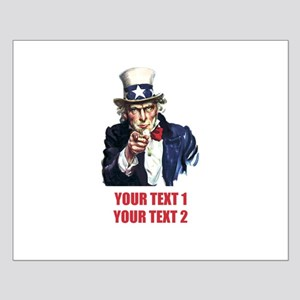 [Your text] Uncle Sam 2 Small Poster