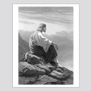 Resting Jesus Small Poster