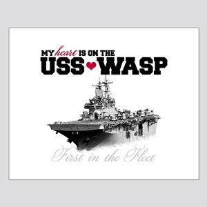 USS Wasp (Heart) Small Poster
