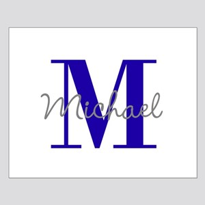 Personalize Initial and Name violet blue Posters