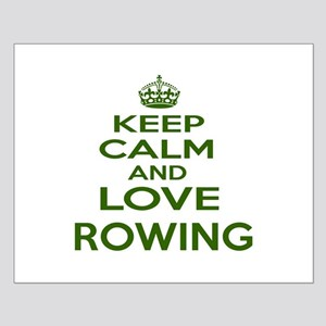 Keep calm and love Rowing Small Poster