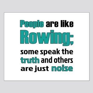 People are like Rowing Small Poster