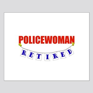 Retired Policewoman Small Poster
