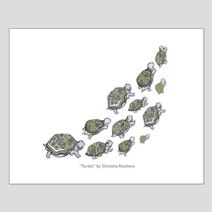 Turtle Illustration Small Poster