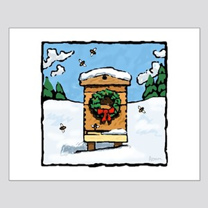 Christmas Bees Small Poster