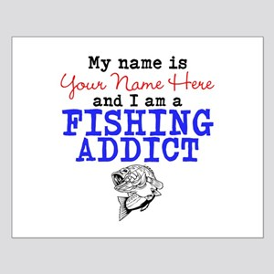 Fishing Addict Small Poster