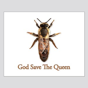God Save the Queen (bee) Small Poster
