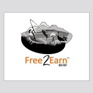 Fishing and Free 2 Earn 4Ever Small Poster
