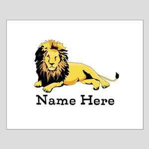 Personalized Lion Small Poster